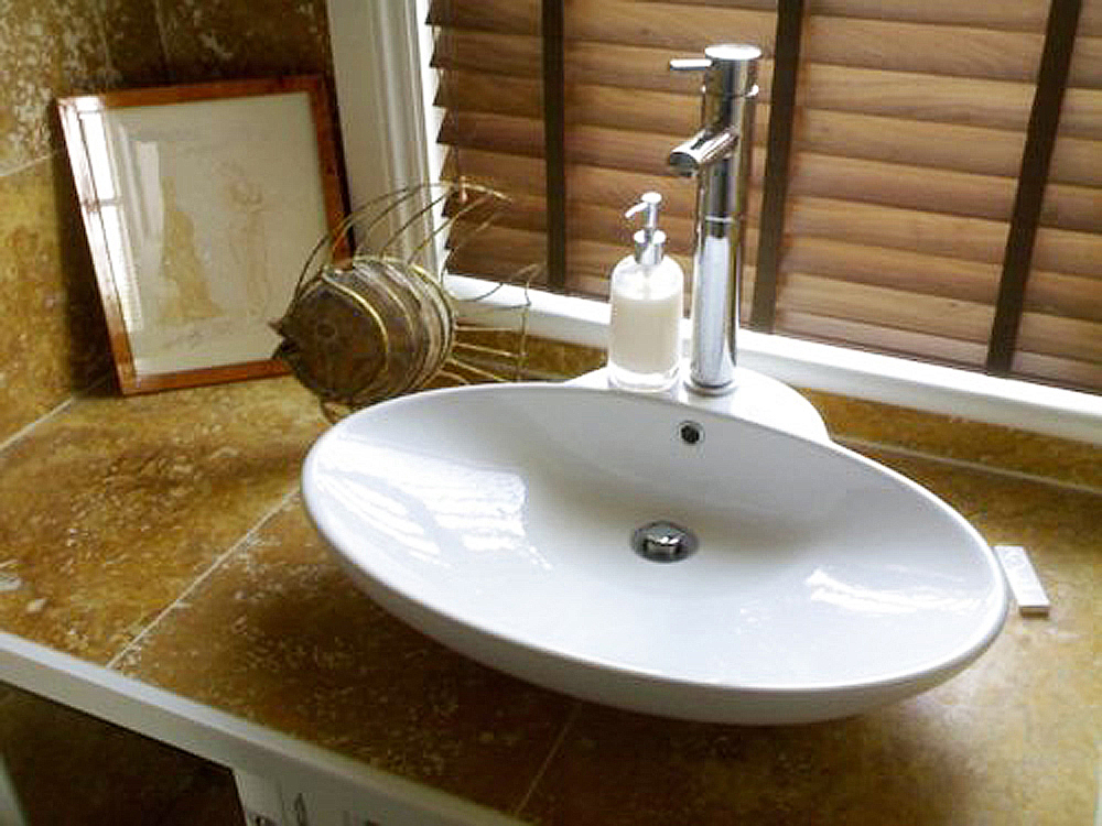 Counter-top basin fitted by F A Ingram Carpentry