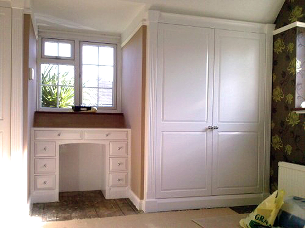 Built in wardrobes fitted by F A Ingram Carpentry. Carpenter in Chelmsford, Essex.