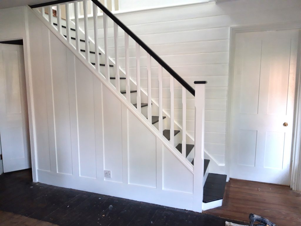 Fit stairs, handrail, spindles. Carpenter in Chelmsford, Essex.